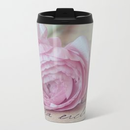 Love Letter With Ranunculus Travel Mug