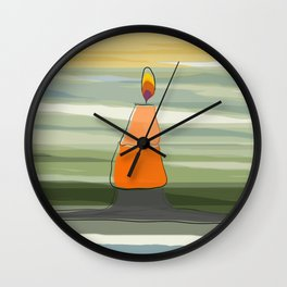 Candle Light Wall Clock