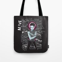 bride Tote Bags featuring Bride by Matt Fontaine Creative