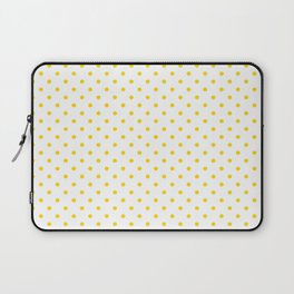 Dots (Gold/White) Laptop Sleeve