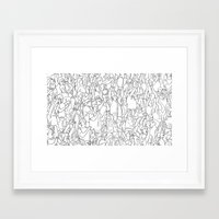 it crowd Framed Art Prints featuring Crowd by Mario Zucca