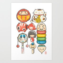 Special Lucky Toy Box Art Print