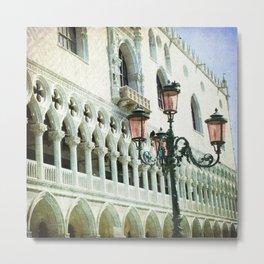 Lampione - Venice Metal Print