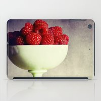 dessert iPad Cases featuring Raspberries for Dessert by Lawson Images