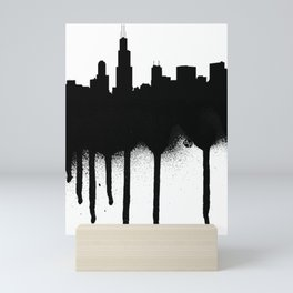 Chicago Spray Paint Graffiti Mini Art Print
