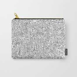 Graffiti Black and White Pattern Doodle Hand Designed Scan Carry-All Pouch