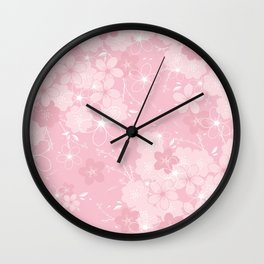 Pink Sakura Wall Clock