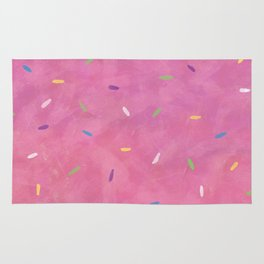 Pink Frosting with Sprinkles Rug