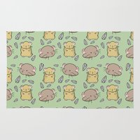 hamster Area & Throw Rugs featuring Hamster Pattern by Noreen Torelli