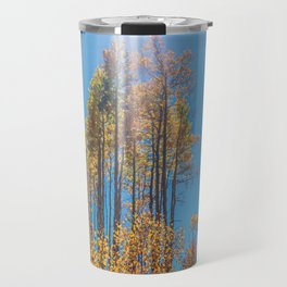 Sunlight Beam // Backpacking Hike through the Aspen Trees in Autumn Travel Mug