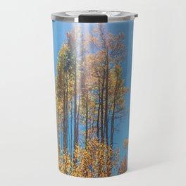 Sunlight Beam // Backpacking Hike through the Aspen Trees in Autumn Travel Mug
