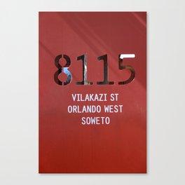 8115 Orlando west - SOWETO Canvas Print