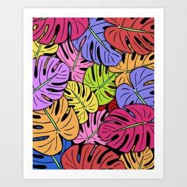 Monstera Leaves #5 Art Print