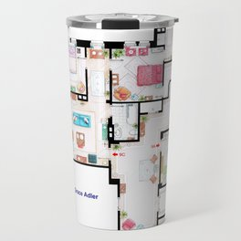 Apartments of Will Truman, Grace Adler and Jack - Floorplan Travel Mug