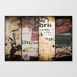 Triptych Ripped and Torn wall posters. Canvas Print