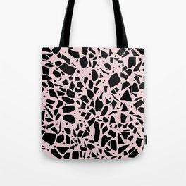 Terrazzo Spot Black on Blush Tote Bag