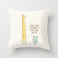 I don't want to grow up Throw Pillow
