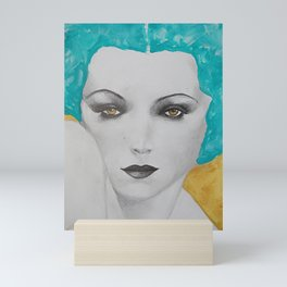 hypnotic aqua seduction Mini Art Print