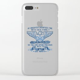 PROUD NAVY MOM Clear iPhone Case