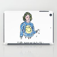 kurt cobain iPad Cases featuring Cut Cobain / Colored by Nü Köza