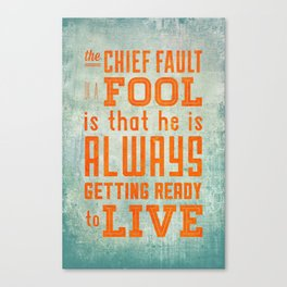 The Chief Fault Canvas Print