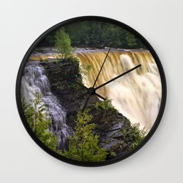 Kakabeka Falls on the Kaministiquia River Wall Clock