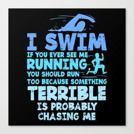 Swimming Swim Gifts Canvas Print