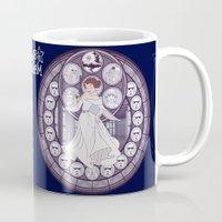 leia Mugs featuring Leia by NicoleGrahamART