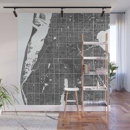 Largo USA Modern Map Art Print Wall Mural