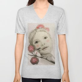 melodie in blush Unisex V-Neck
