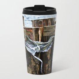 Tattered And Torn Metal Travel Mug