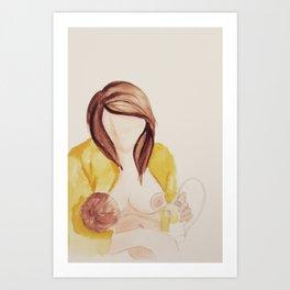 Breastfeeding Art - The art of expressing  Art Print