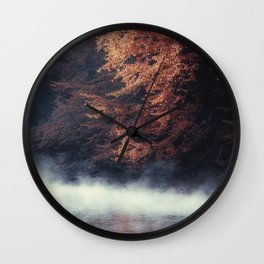 Nature's Mirror - Fall on the River Wall Clock