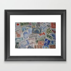 Canadian Pride Vintage Postage Stamp Collection From Canada Framed Art Print