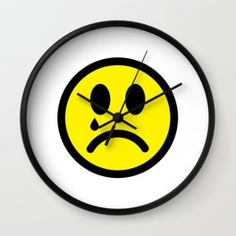 Cry Face Wall Clock