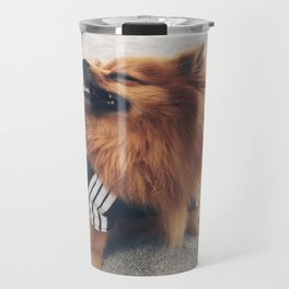 Beach Life Pomeranian Travel Mug