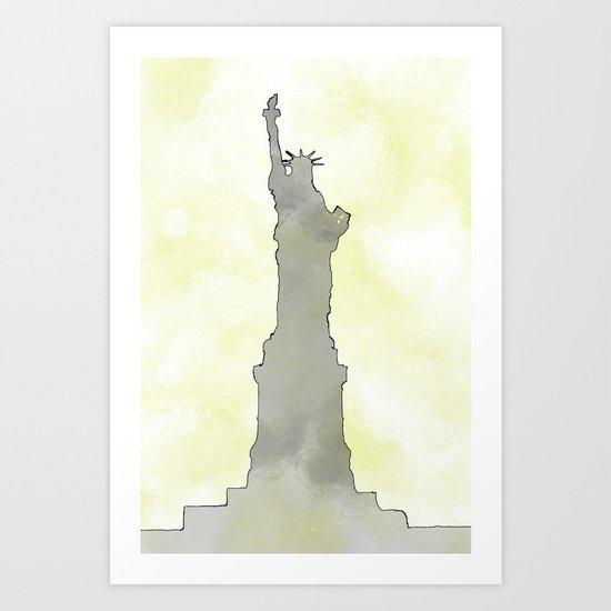 Lady Liberty, Minimalized Art Print