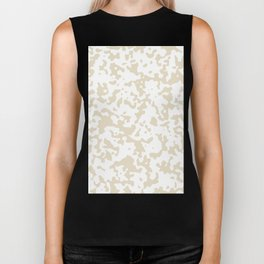 Spots - White and Pearl Brown Biker Tank