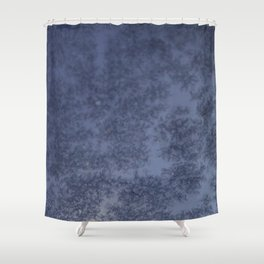 Moon through a Frosty Window Shower Curtain