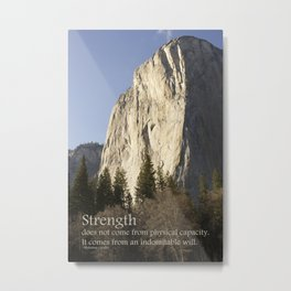 Strength Metal Print