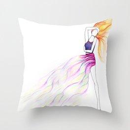 Dreamer Donna Throw Pillow