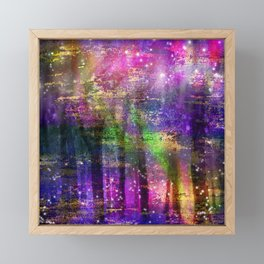 Colorful Ethereal Magical Abstract Forest Framed Mini Art Print