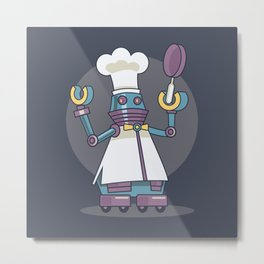 Robo Chief Metal Print