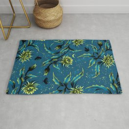 Queen of the Night - Teal Rug