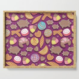 Mexican Sweet Bakery Frenzy // pink background // pastel colors pan dulce Serving Tray
