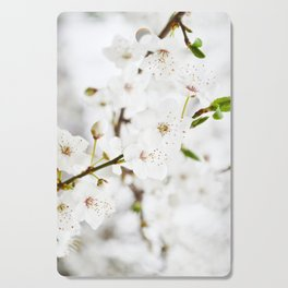 White blooming Cutting Board