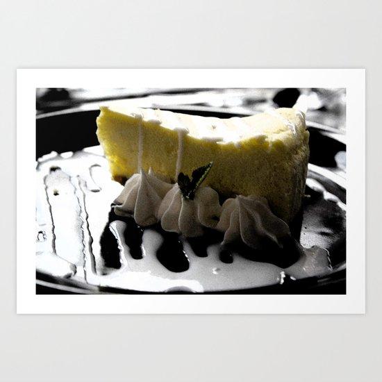 Iced Lemon Cake Art Print