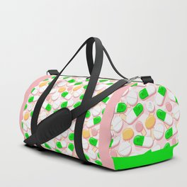 Deadly Pills Pastel Pattern Duffle Bag