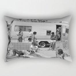 Vintage Camper Beach Rectangular Pillow