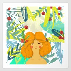 Let's be adventurers Girl Art Print